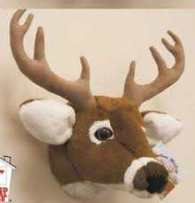 x plush wall: stuffed animal wall mount deer head junior model see our listing for large model perfect gag gift for a hunter or to decorate a nursery junior size  x