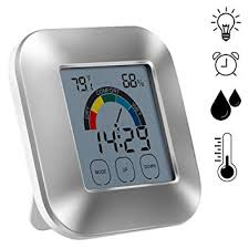 sweetlife Indoor <b>Digital Hygrometer</b>,<b>Electronic</b> Touch Type Weather ...