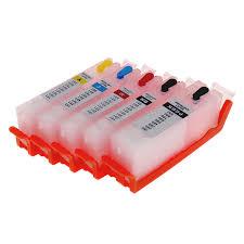 <b>5pcs PGI 580</b> CLI 581 Refillable Ink Cartridge For Canon TS6150 ...