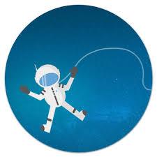 """Коврик для мышки (круглый) """"<b>Космонавт</b> в открытом космосе ..."""