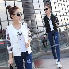 <b>Women Floral Print</b> Jackets Baseball uniform Coat Plus Size <b>S</b>-<b>2XL</b> ...