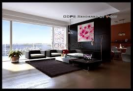 model living rooms: spacious living room models d model