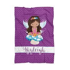 Fairy Throw Blanket - Purple Magical Fairy Girl ... - Amazon.com