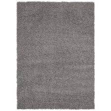 cozy shag collection grey 7 ft 10 in x 9 ft 10 in black shag rug