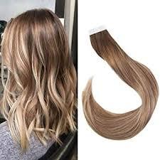 "<b>Full Shine</b> 16"" Balayage Tape in Hair Extensions <b>Remy</b> Human Hair ..."