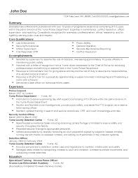 professional police corporal templates to showcase your talent resume templates police corporal