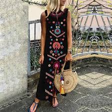 Scaling Women Dress, Women Summer Sexy <b>Boho Deep V Neck</b> ...