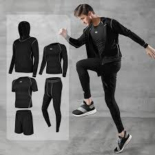 <b>New</b> Arrival Running Set <b>Men Sport Suit</b> Gym Fitness Clothing ...