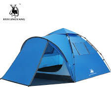 Tourist tent large space double 3 4 people tent hydraulic automatic ...