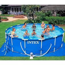 Каркасный <b>бассейн Intex Metal Frame</b> 457*107 см, фильтр-насос ...