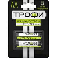 Купить Аккумуляторная батарея AA <b>Трофи</b> HR6-2BL 2500 <b>mAh</b> (2 ...