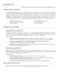 administrative assistant resume summary examples  executive    sample administrative assistant resume examples