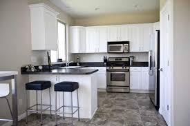 small black white kitchen