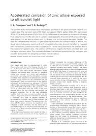 (PDF) Accelerated corrosion of <b>zinc alloys</b> exposed to ultraviolet <b>light</b>