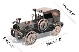 "ERMAKOVA 20cm(7.8"")<b>Metal Old Car Figurine</b> Gran Torino Retro ..."