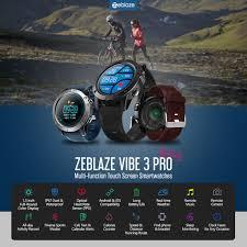 <b>Zeblaze VIBE 3</b> Pro Smartwatch IP67 Waterproof Heart Rate Monitor ...