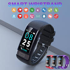 <b>C20S</b> Sports Bracelet <b>ECG</b>+PPG <b>Heart Rate Blood Pressure</b> ...