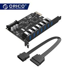 <b>ORICO</b> супер скорость USB3.0 <b>7</b> Порты и разъёмы <b>PCI</b>-<b>E</b> Express ...