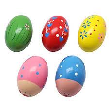 Homgaty <b>1Pcs Child Kids</b> Egg Maracas Music Shaker Wooden ...