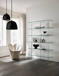 unit glass shelves mm wallmounted shelf metal glass trasparenza by