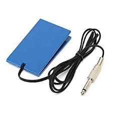 HITSAN Blue Acrylic <b>Tattoo Machine Foot Switch Pedal</b> Power ...