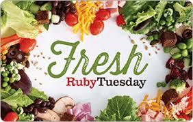 Ruby Tuesday eGift Cards - Food & Restaurants | eGifter | eGifter