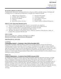 qualifications key qualifications in a resume printable key qualifications in a resume image