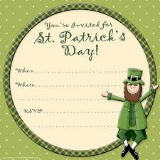printable party invitations st patrick s day invite printable party invitations st patrick s day invite template