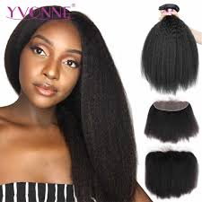 <b>YVONNE Brazilian Kinky Straight</b> Lace Frontal 13x4 Virgin Hair ...