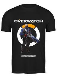 <b>Футболка классическая Overwatch</b>. Солдат 76 #2148809 от ...