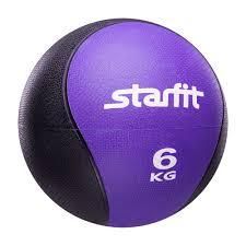 <b>Медбол</b> Starfit PRO GB-702, 6 кг, фиолетовый