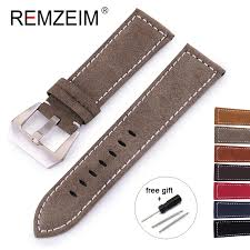 REMZEIM 18mm <b>20mm 22mm</b> 24mm <b>Matte</b> Leather Watch Band ...