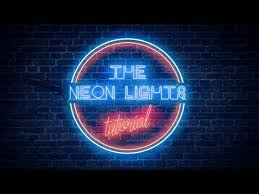 Realistic <b>Neon Light</b> Effect in Photoshop - YouTube
