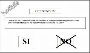 Risultati immagini per referendum scheda con vota no