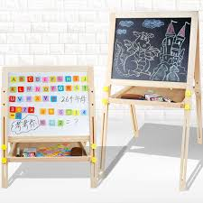 Blackboard <b>Children Wooden Lifting</b> Detachable Magnetic <b>Double</b> ...