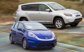 2013 Honda <b>Fit</b> EV vs. 2012 <b>Toyota RAV4</b> EV Comparison - Motor ...