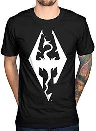Official <b>Skyrim</b> Dragon Logo <b>T</b>-<b>Shirt</b> Black: Amazon.co.uk: Clothing