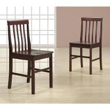 kitchen chairs with arms abigail wood dining chairs in espresso set of