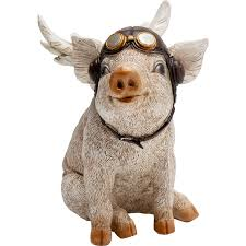 "<b>Статуэтка Aviator pig</b>, коллекция ""Поросенок-авиатор"" 15*16*10 ..."