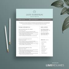 modern resume template for microsoft word  lime resumes modern resume template cover letter and reference page for microsoft word