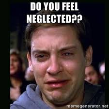Do you feel neglected?? - crying peter parker | Meme Generator via Relatably.com