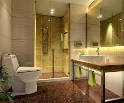 fascinating glass shower lighting ideas in ceiling with yellow tile wall paint and brown floor as ceiling wall shower lighting