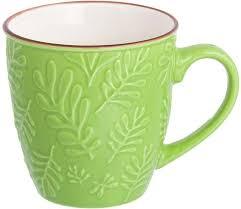 """<b>Кружка</b> столовая <b>Elan Gallery</b> """"<b>Листья</b> большие"""", цвет: зеленый ..."""