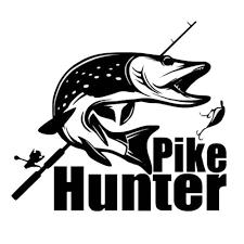 <b>1</b> PC <b>Pike Hunter</b> Car Stickers Vinyl Art Sticker Creative Car Window ...