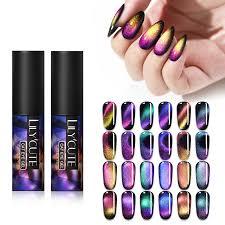<b>LILYCUTE 5ml Auroras</b> Nail Gel Polish <b>Luminous</b> Cat Eye UV Gel ...