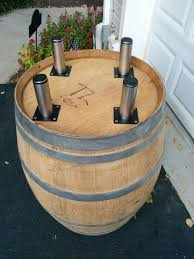 adding stainless table legs to my wine barrel table pinotspaletteec paintingandwine cool products pinterest wine barrel table barrel table and arched napa valley wine barrel table
