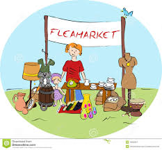 Image result for animated flea market