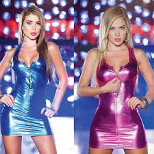 <b>Charmed</b> Sexy Zipper Vest <b>Patent Leather</b> Lingerie Imitate Stage ...