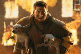 tim tebow can t work in the nfl so he made these ads for t tebow puppies