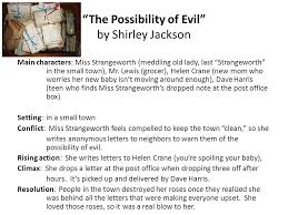 english  eoc review ruppel lee harrison bergeron by kurt  the possibility of evil by shirley jackson main charactersmiss strangeworth meddling
